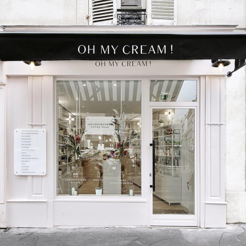 Label Experience : devanture extérieur de la boutique Oh My Cream rue Legendre à Paris