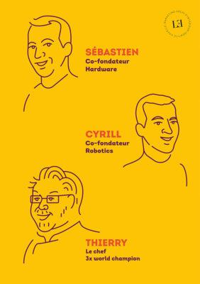 Label Experience : croquis des fondateurs du restaurant Pazzi au centre commercial Val d'Europe