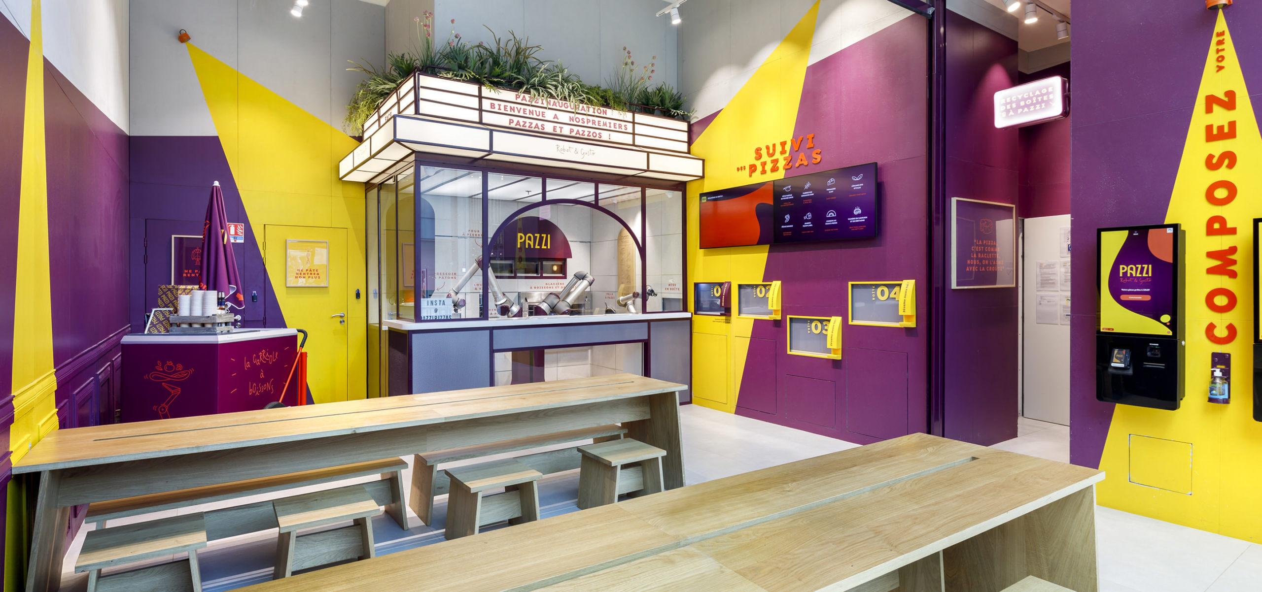 Label Experience : vue globale du restaurant Pazzi au centre commercial Val d'Europe