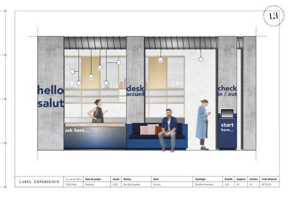Label Experience : élévation de l'accueil RaiseLab dans le 11ème arrondissement de Paris