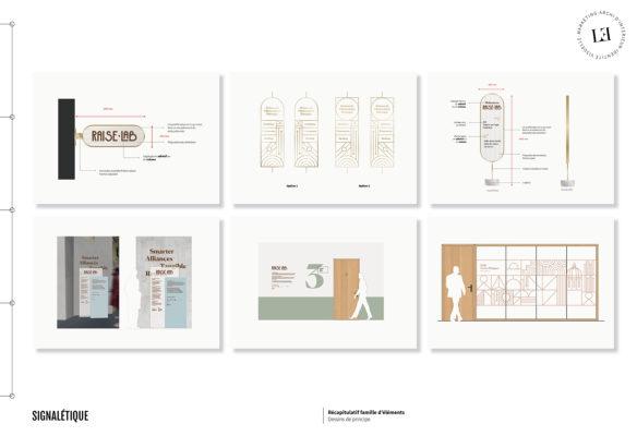 Label Experience : signalétique de Raiselab dans le 11ème arrondissement de Paris