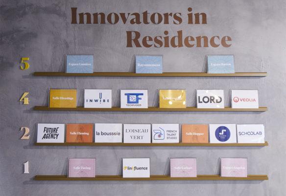 Label Experience : noms des résidents de RaiseLab dans le 11ème arrondissement de Paris