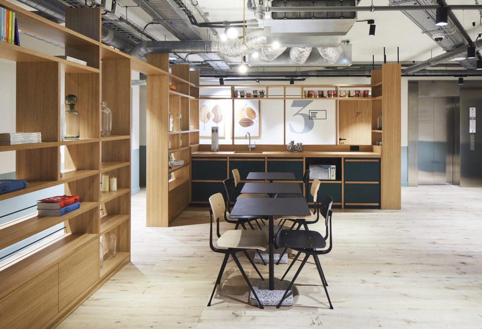 Label Experience :cuisine de la résidence hôtelière de RaiseLab dans le 11ème arrondissement de Paris