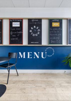 Label Experience: Focus sur le menu de l'espace restauration du nouveau coworking de « Schoolab » à Saint-Lazare.