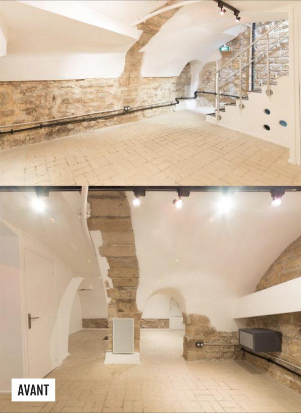 Label Experience: Image de deux autres pièces de l'espace avant aménagement du pop-up « Shanty Biscuits » à Paris.