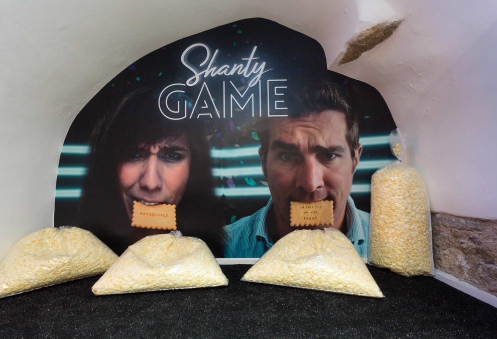 Label Expérience: Coin jeu du pop-up « Shanty Biscuits » à Paris.