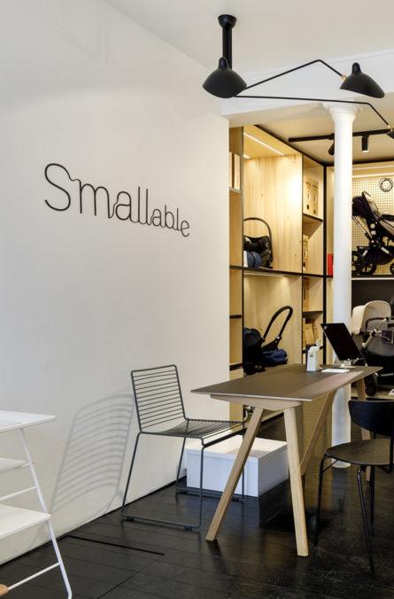 Label Experience : caisse de la boutique Smallable baby store à Paris.