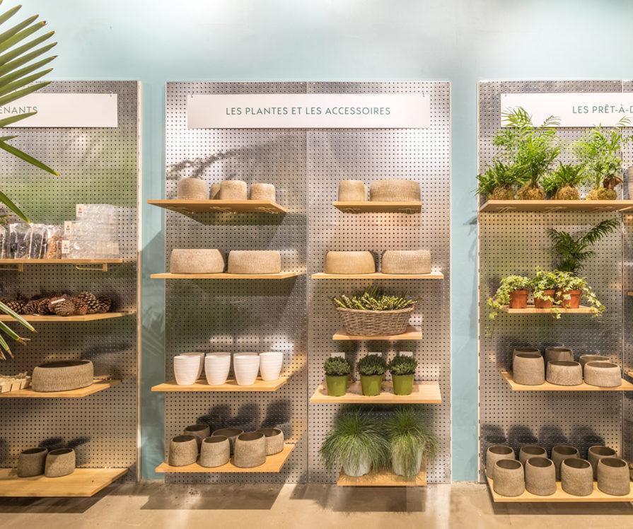 Label Experience: Exposition de plantes et accessoires de la boutique « Truffaut » à Boulogne.