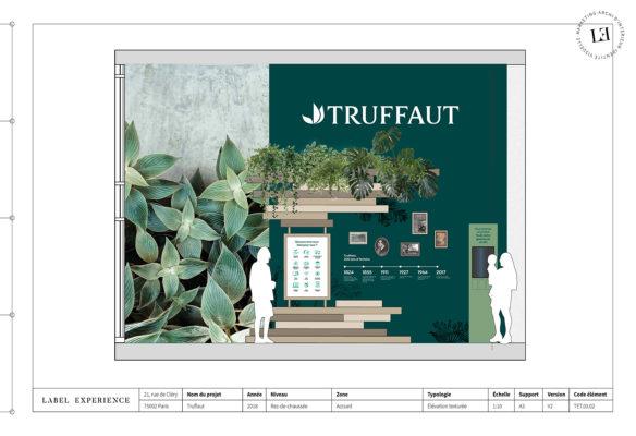 Label Experience: Croquis d'une des salles intérieures de la boutique « Truffaut » à Boulogne.