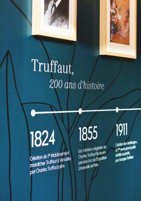 Label Experience: Frise historique de la boutique « Truffaut » à Toulouse.