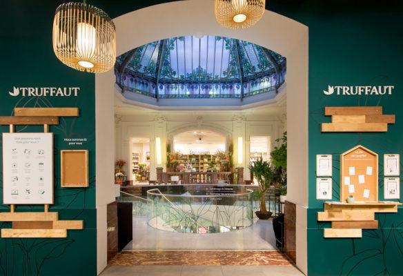 Label Experience: Point de vue sur la verrière de la boutique « Truffaut » à Toulouse.