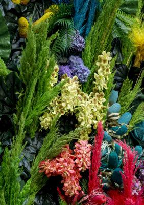 Label Experience: Décoration végétale au corner éphémère de Vanessa Bruno Rio dans les Galeries de la Fayette.