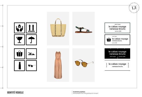 Label Experience: Focus sur les pictogrammes dans le corner éphémère de Vanessa Bruno Saint-Tropez au Bon Marché.