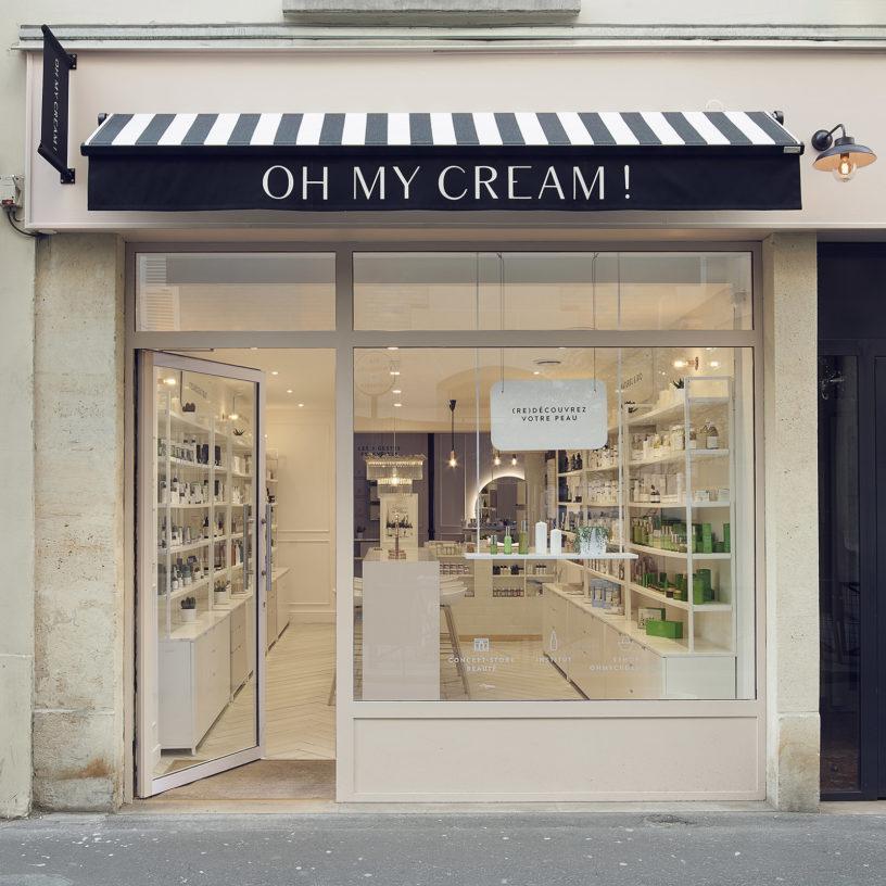 Label Experience: Devanture parisienne de la boutique « Oh my cream ! » rue Debelleyme à Paris.