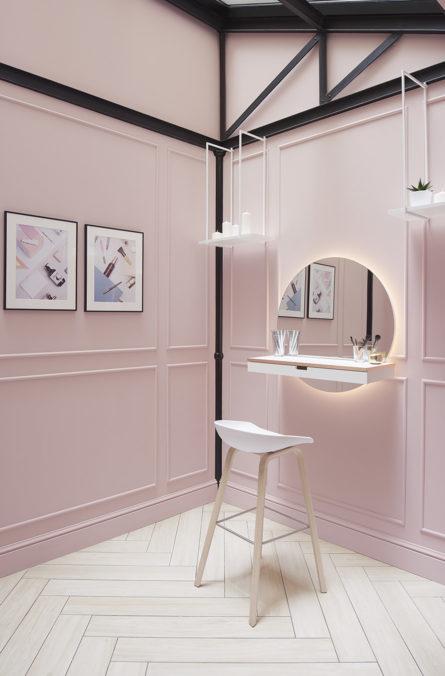 Label Experience: Coin « coiffeuse » de la boutique « Oh my cream ! » rue Debelleyme à Paris.