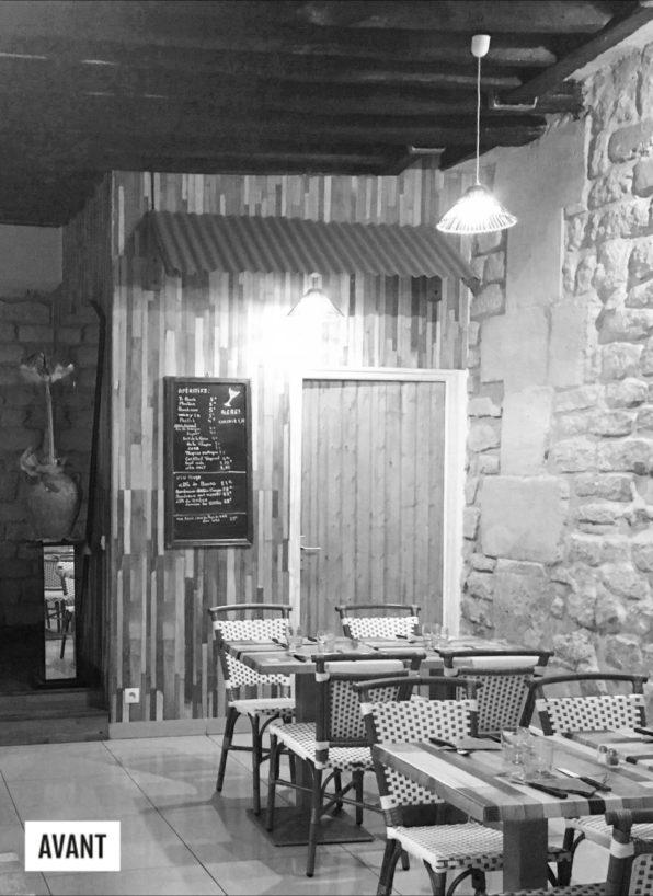 Label Experience : photo avant travaux de l'intérieur du restaurant-boucherie Bidoche à Paris dans le quartier d'Oberkampf