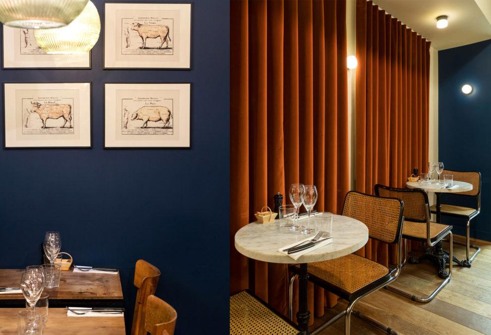 Label Experience : tables à manger dans le restaurant-boucherie Bidoche à Paris dans le quartier d'Oberkampf