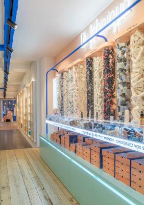 Label Experience : vue du corner La Fabrique dans la boutique Birchbox à Paris