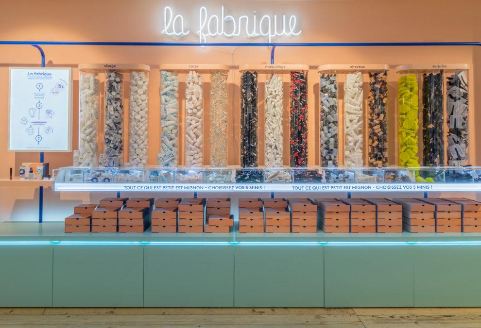 Label Experience : vue de face de La Fabrique dans la boutique Birchbox à Paris