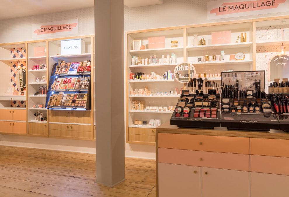 Label Experience : espace maquillage dans la boutique Birchbox à Paris