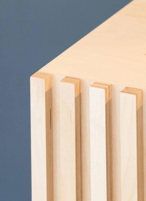 Label Experience: Focus matière bois de la boutique « Bonne Gueule » à Bordeaux.