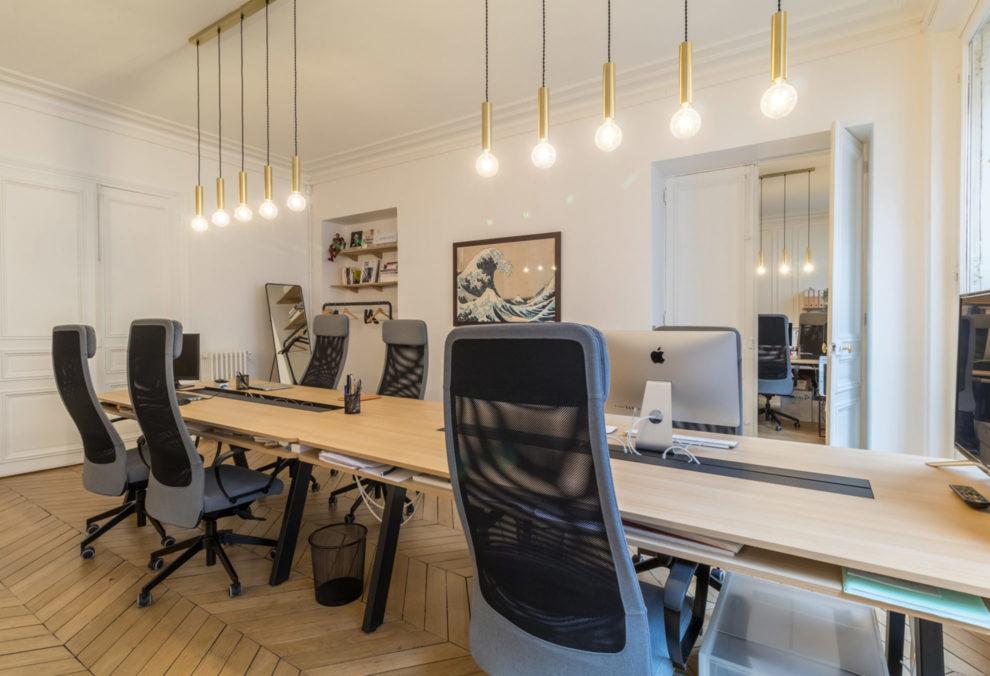 Label Experience : aperçu de l'open space dans les bureaux BonneGueule à Paris