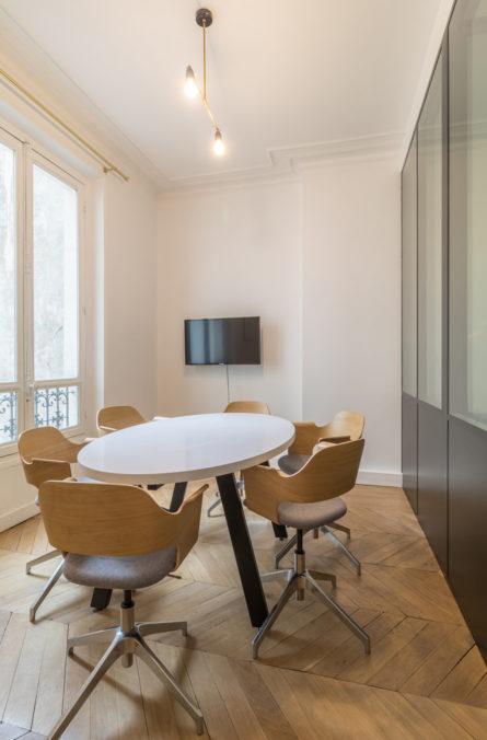 Label Experience : salle de réunion dans ls bureaux BonneGueule à Paris