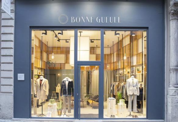 Label Experience : façade extérieure de la boutique BonneGueule à Lyon