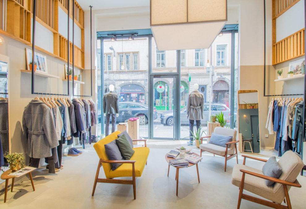 Label Experience : vue globale de la boutique Bonne Gueule à Lyon