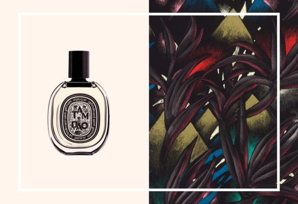 Label Experience: Affiche parfum du pop-up store de Diptyque à St Honoré, Paris.