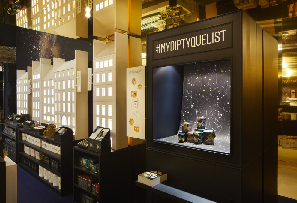 Label Experience : stand photo dans le pop-up constellation de la marque Diptyque à Paris