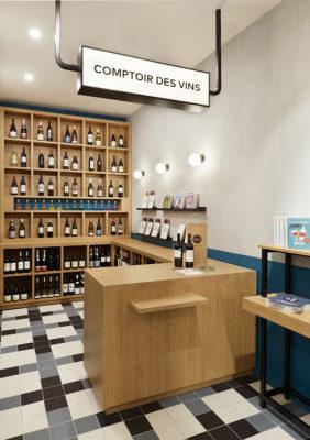 Label Experience : le comptoir des vins dans la boutique Le Petit Ballon à Paris