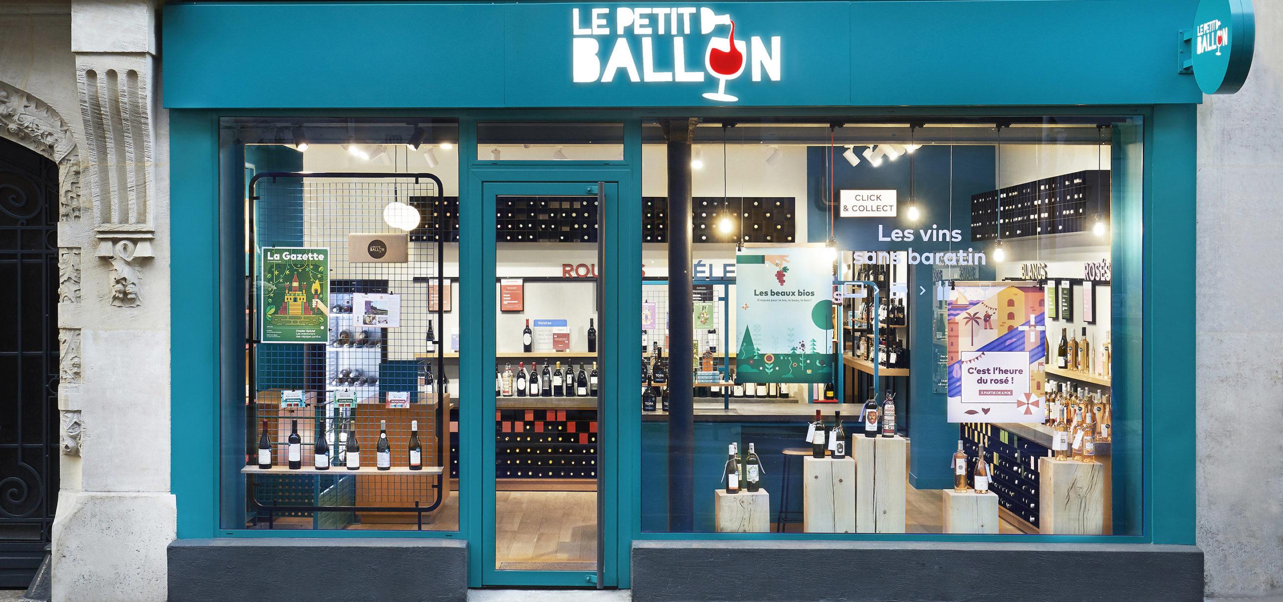Label Experience : photo de la façade extérieure de la boutique Le Petit Ballon à Paris