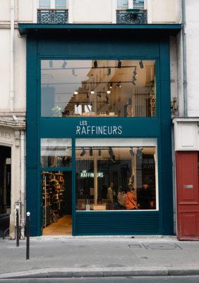 Label Experience : façade extérieure de la boutique Les Raffineurs à Bastille