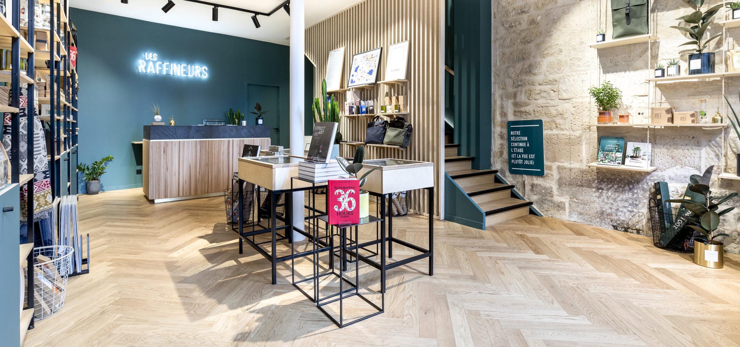 Label Experience : vue des caisses à l'intérieur de la boutique Les Raffineurs à Bastille