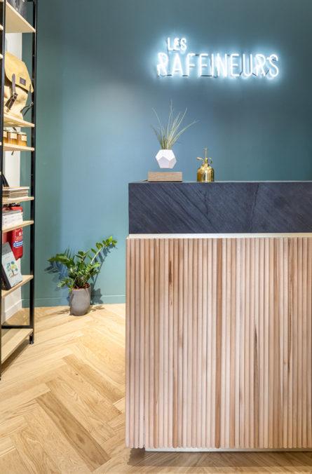 Label Experience : Les Raffineurs concept store Paris Bastille espace vente caisse