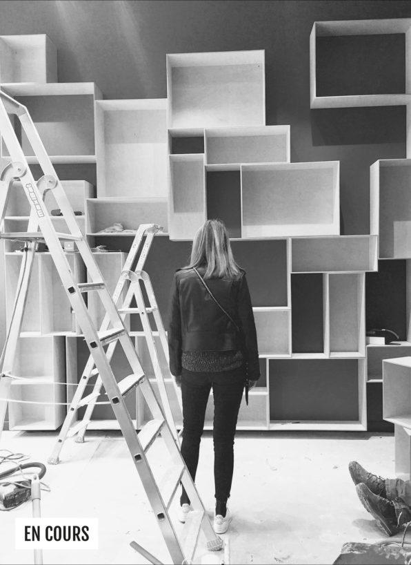 Label Experience: Image en noir et blanc du chantier avant le pop-up des « Raffineurs » l'été 2017.