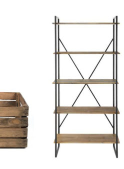 Label Experience : étagère en bois et métal noir dans notre catalogue de location Movable