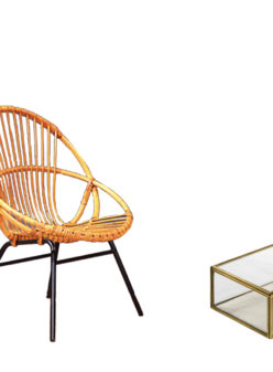 Label Experience : fauteuil design Acapulco de couleur orange provenant de notre offre de location Movable