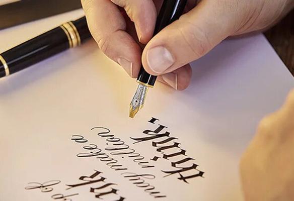Label Experience : zoom sur une plume de calligraphie Montblanc
