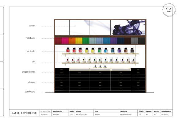 Label Experience : élévation du Ink Bar Montblanc de couleur noir