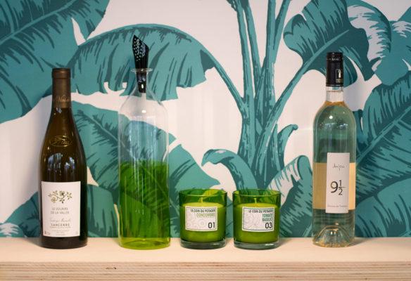 Label Experience : packshot de bouteilles de vin au salon Vinovision à Paris