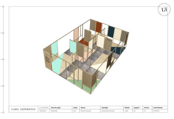 Label Experience : élévation 3D de l'espace d'exposition du salon Vinovision à Paris