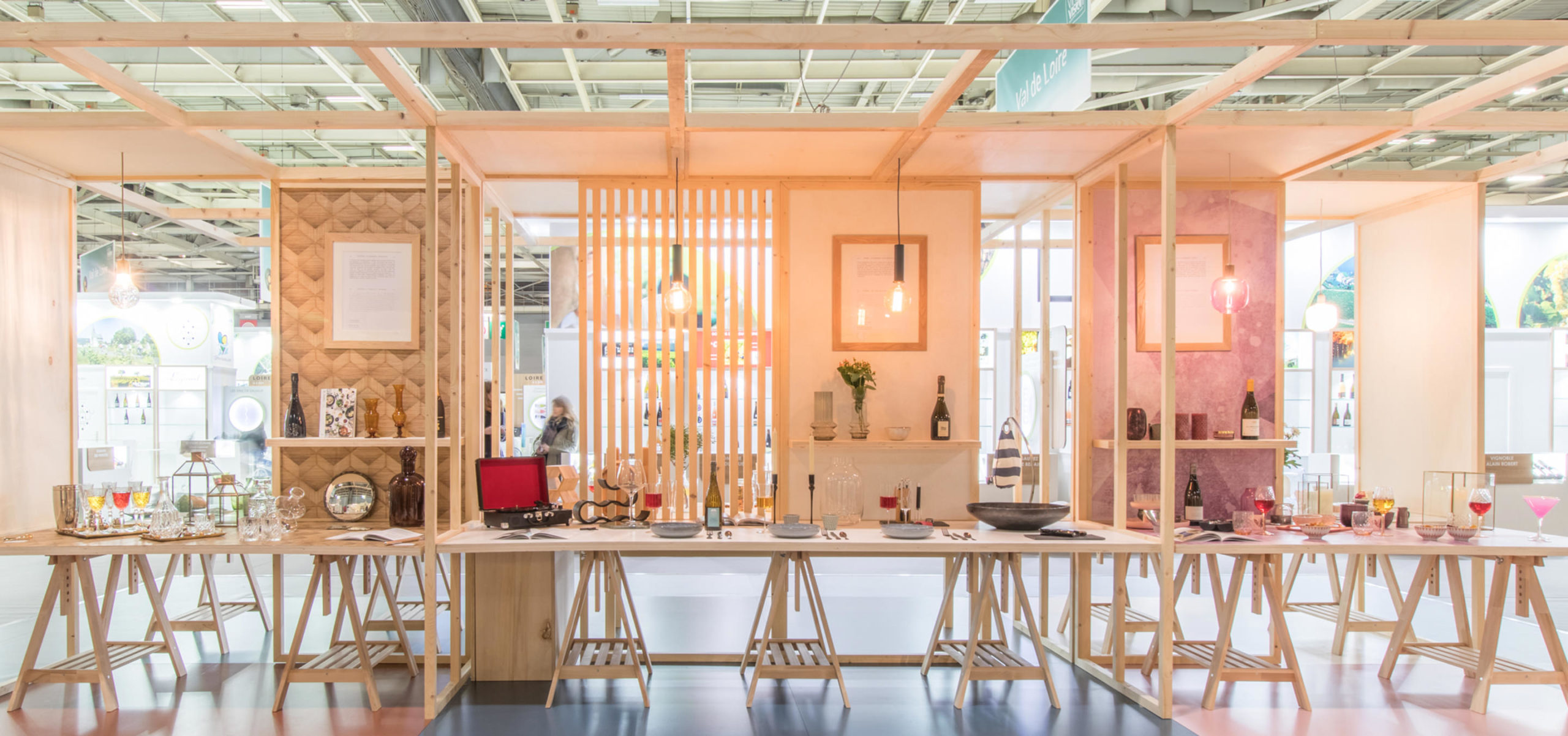 Label Experience : espace de dégustation dans le salon Vinovision à Paris