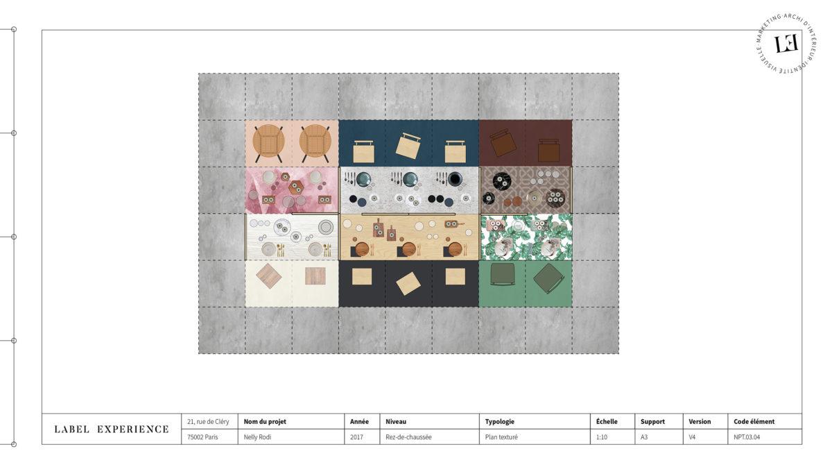 Label Experience : plan du dessus de l'espace d'exposition du salon Vinovision à Paris