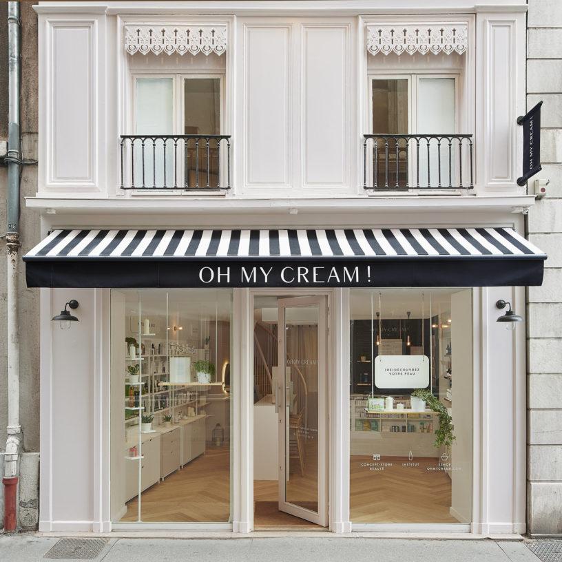 Label Experience : devanture extérieur de la boutique Oh My Cream à Lyon