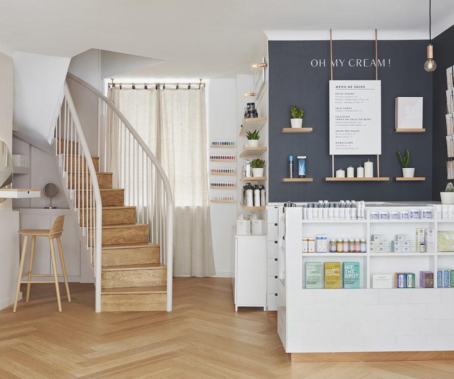 Label Experience : caisse dans l'espace vente de la boutique Oh My Cream à Lyon
