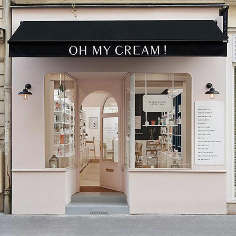Label Experience : devanture extérieur de la boutique Oh My Cream rue Guichard à Paris