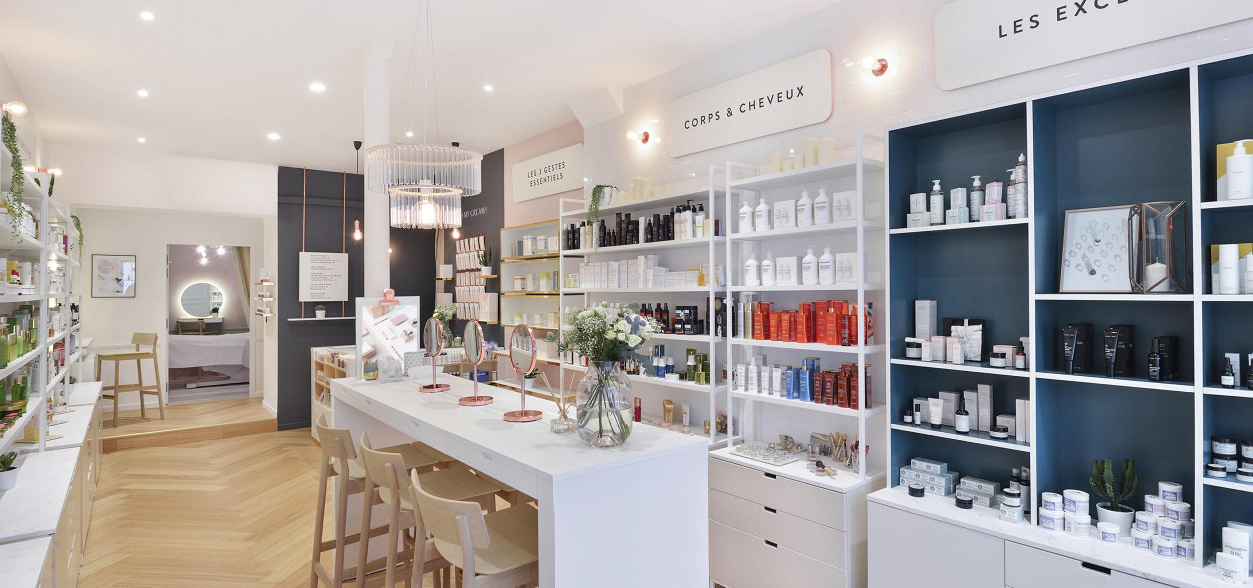 Label Experience : ambiance fraîche à l'intérieur de la boutique Oh My Cream rue Guichard à Paris