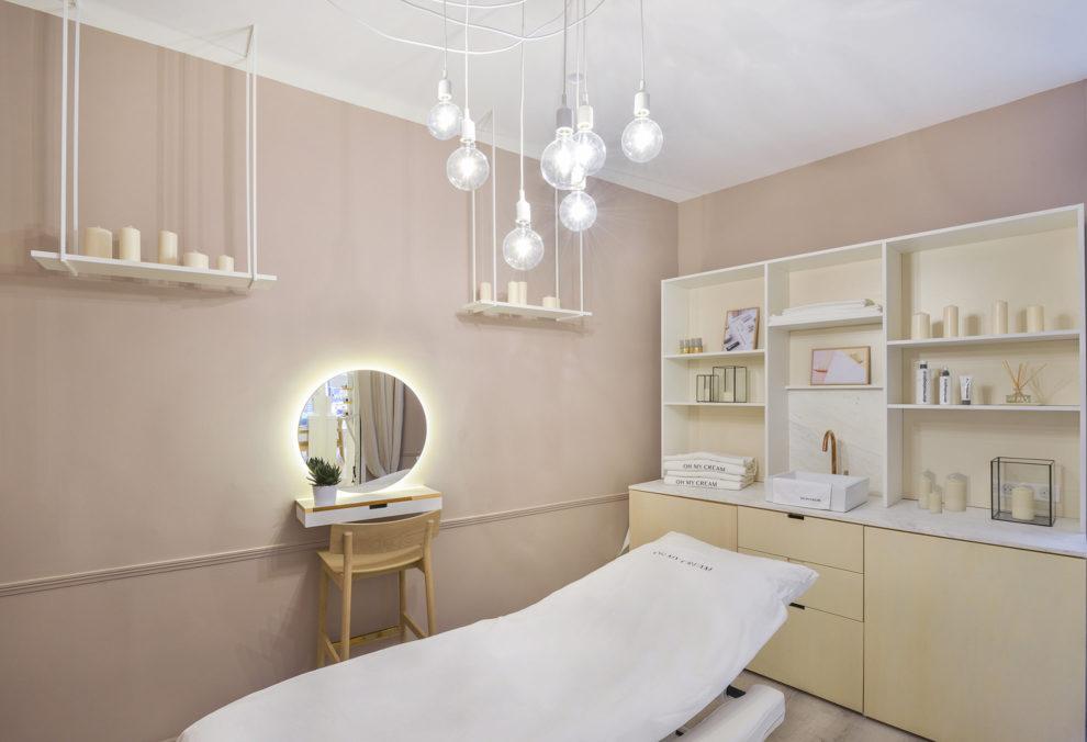 Label Experience : cabine de soin dans la boutique Oh My Cream rue Guichard à Paris